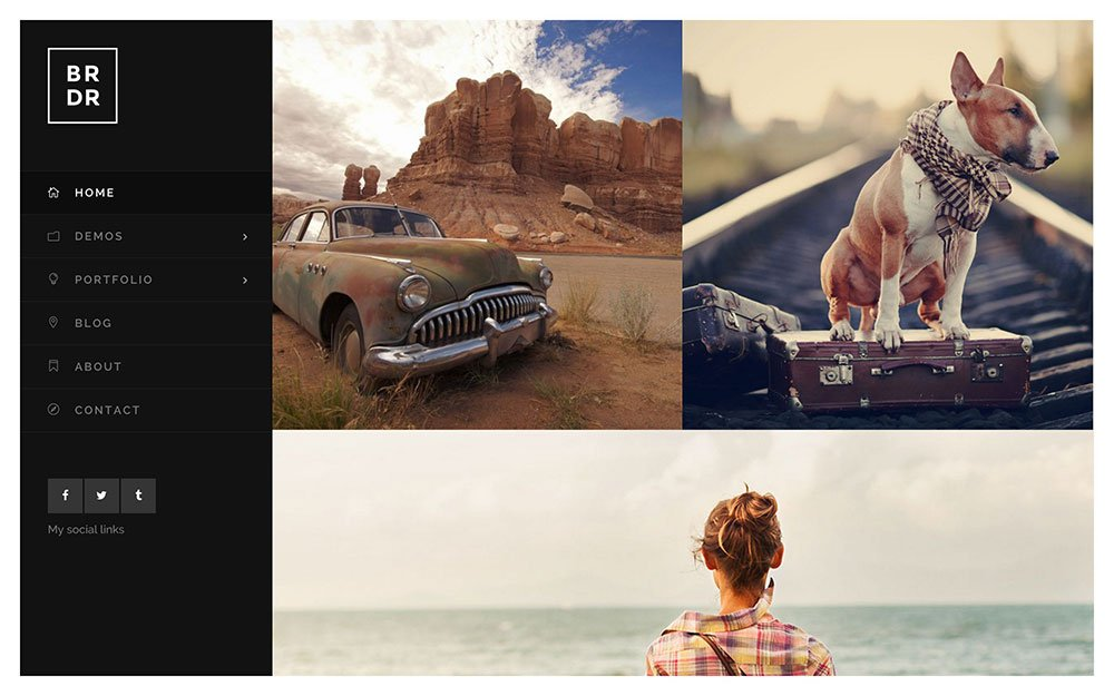 Borderland - 36+ Top Quality WordPress Themes For Photography [year]