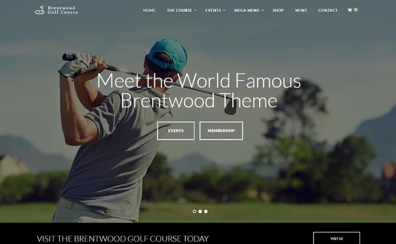 Brentwood - 36+ Nice WordPress Golf Themes For Golf Clubs Websites [year]