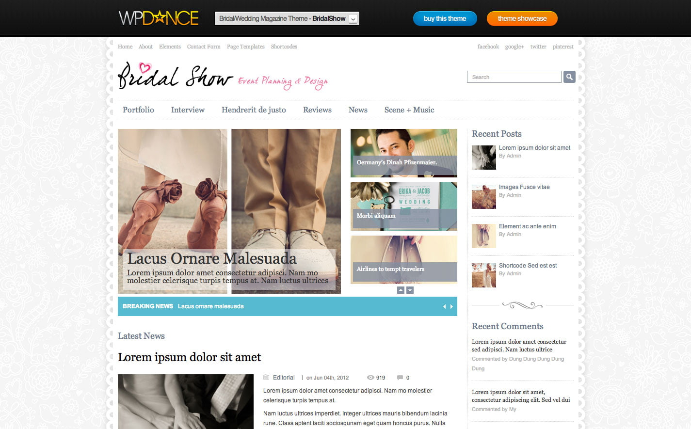 Bridal-Show - 36+ Elegant Free WordPress Wedding Themes [year]