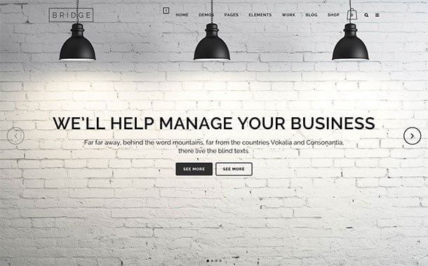 Bridge-3 - 35+ Nice WordPress Themes For Multipurpose [year]