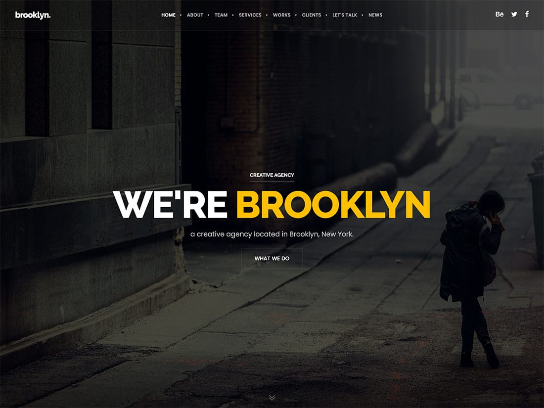 Brooklyn-2 - 41+ Amazing WordPress Parallax Themes For You [year]
