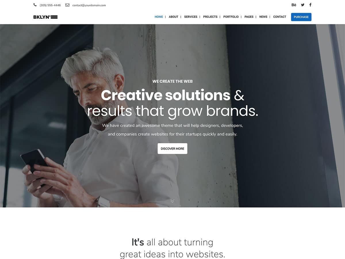 Brooklyn - 36+ Top Quality WordPress Themes For Business [year]