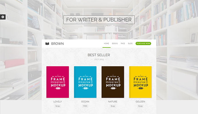Brown - 31+ Nice Librarian & Bookseller WordPress Themes [year]