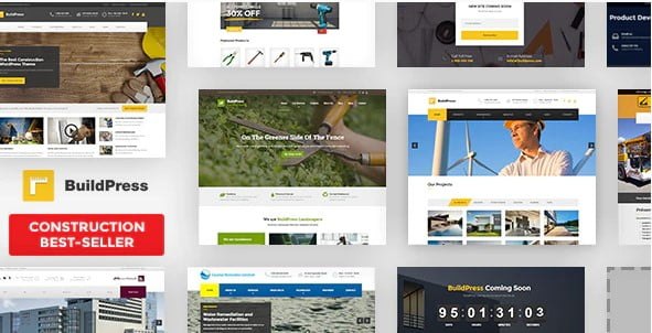 BuildPress - 36+ Top Quality WordPress Themes For Construction Company [year]