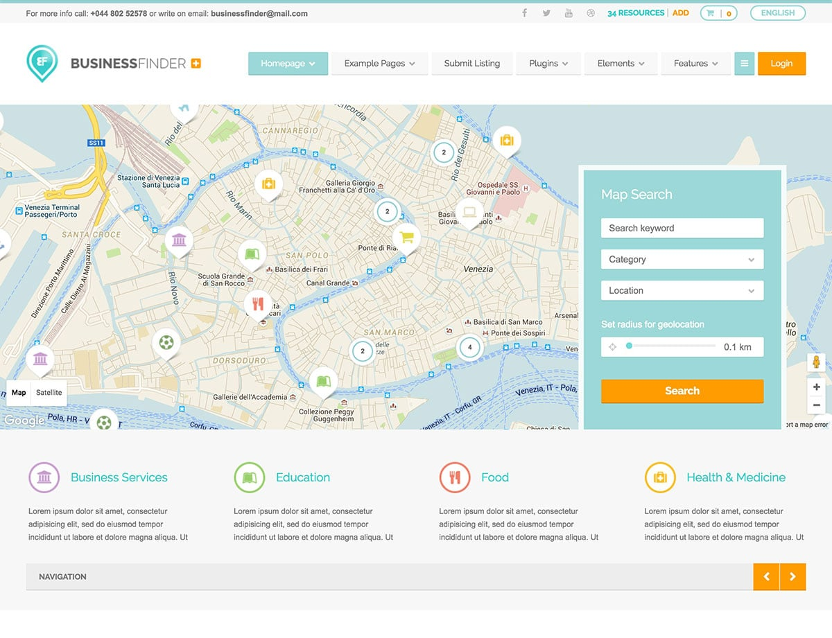 Business-Finder - 46+ Stunning WordPress Directory Themes [year]