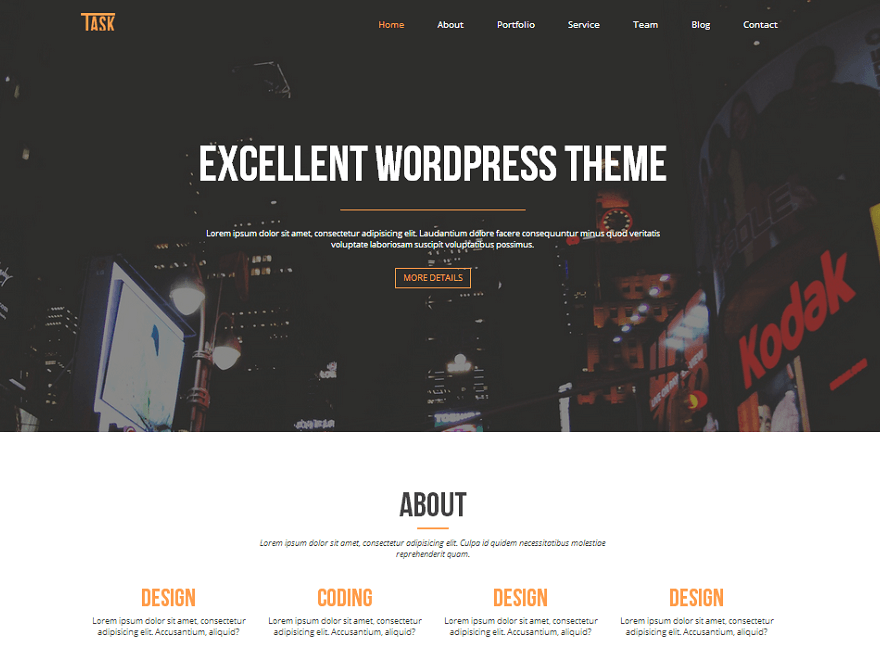 Business-One - 46+ Best Free WordPress One Page Themes [year]