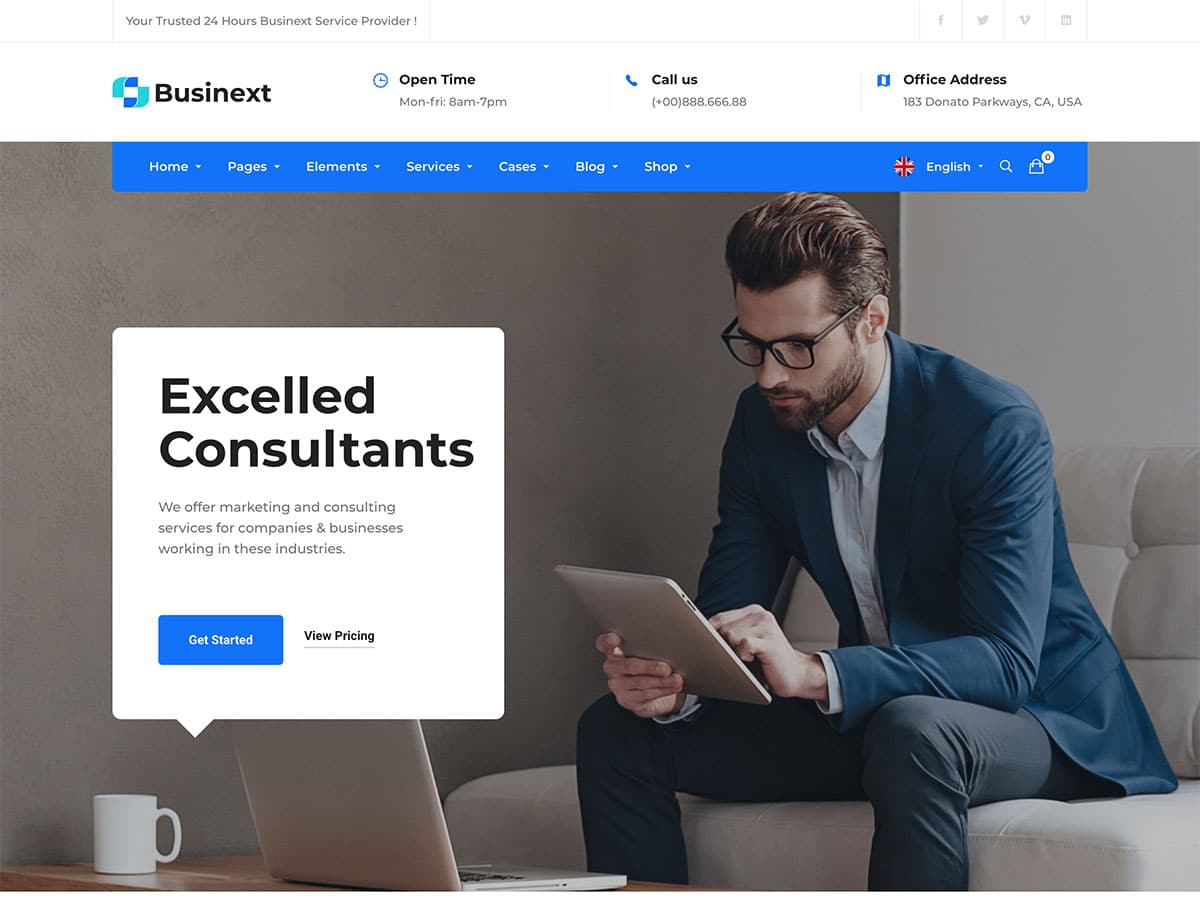 Businext - 60+ Nice WordPress Themes For Business [year]