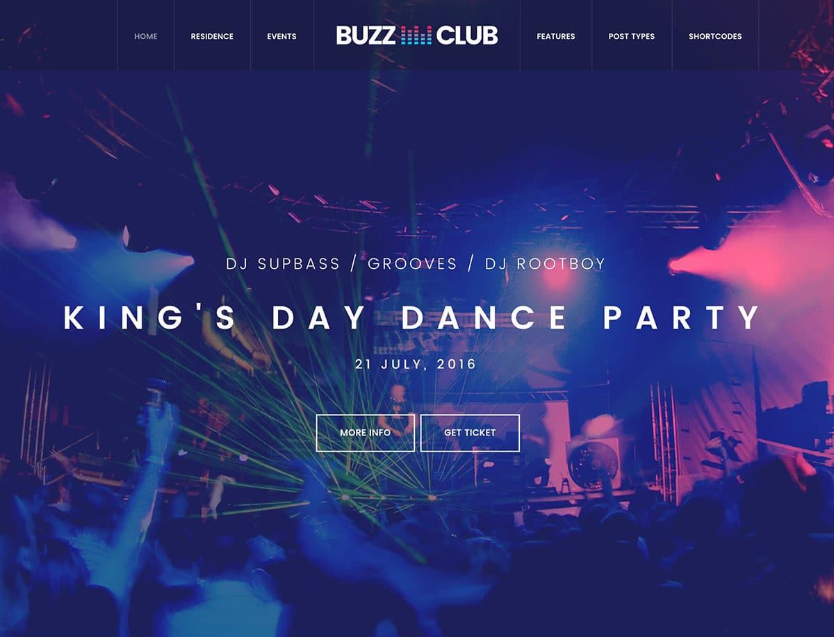 Buzz-Club - 35+ Nice WordPress Themes For Nightclub [year]
