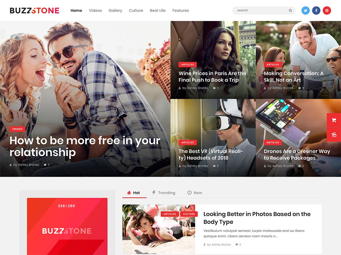 Buzz-Stone - 30+ Top Quality WordPress Themes For Viral [year]