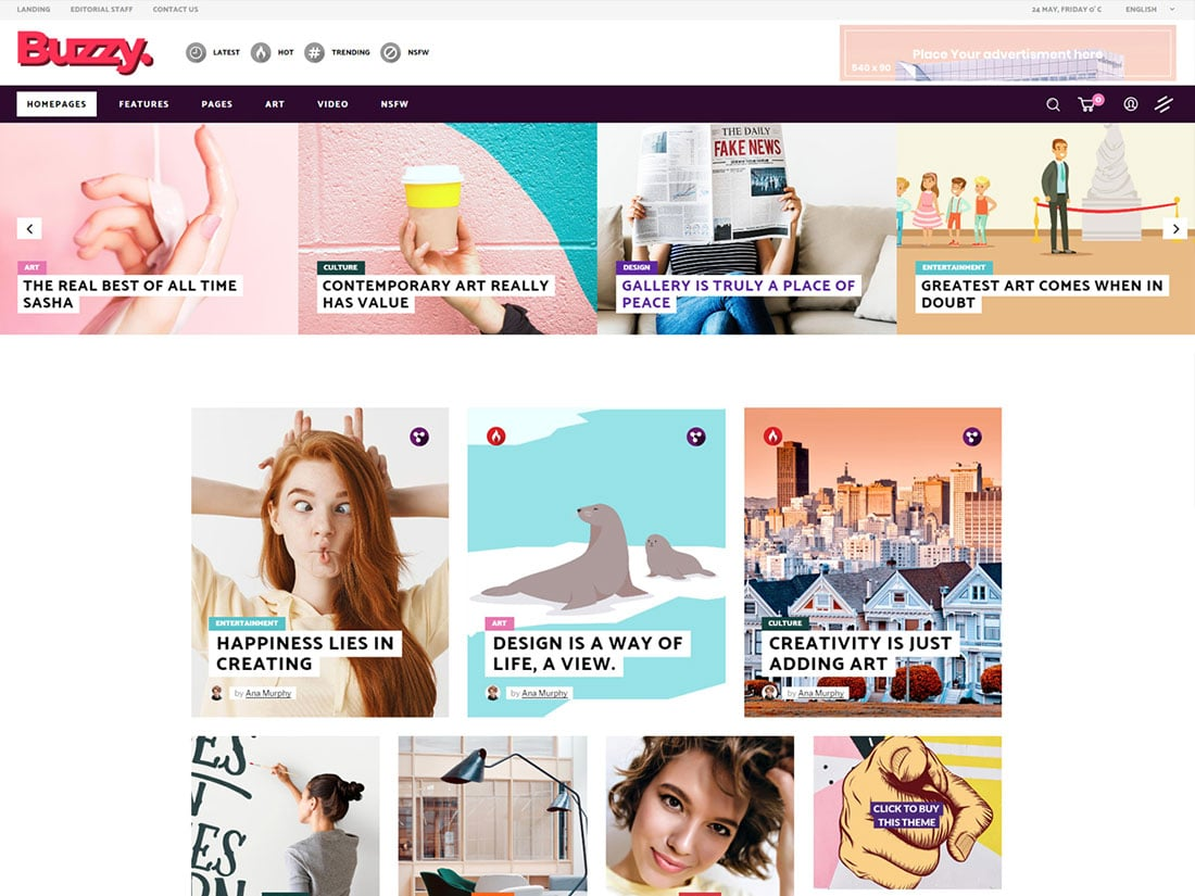 Buzzy - 30+ Top Quality WordPress Themes For Viral [year]
