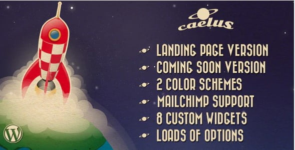 Caelus - 36+ Best Quality Retro WordPress Themes [year]