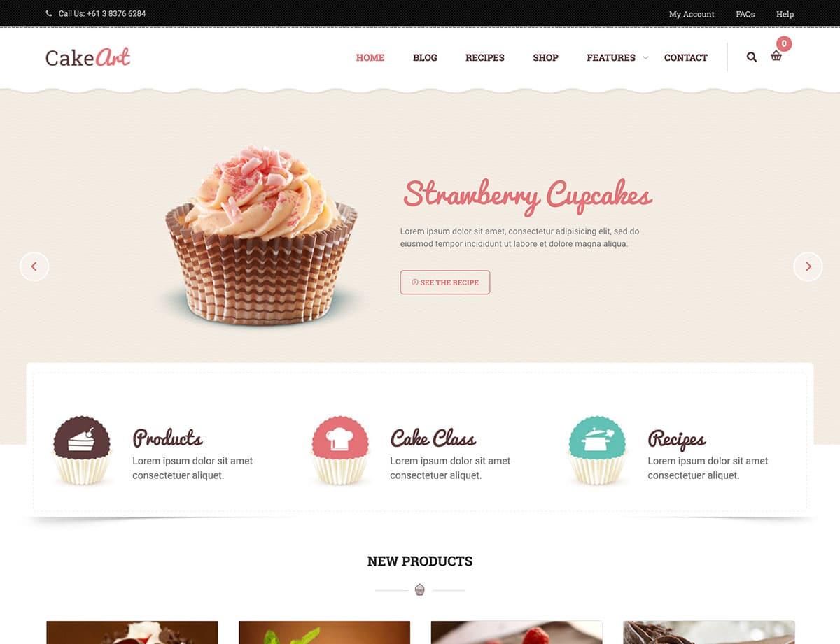 Cake-Art-1 - 30+ Amazing Bakeries WordPress Themes [year]