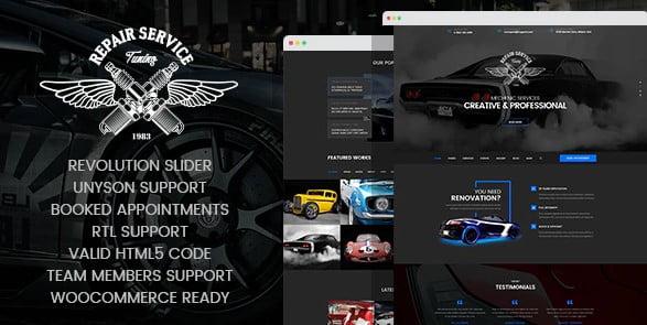 CarRepair - 36+ Best Quality Retro WordPress Themes [year]