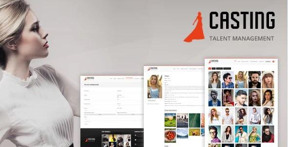 Casting - 36+ Nice WordPress Model Agency Themes [year]