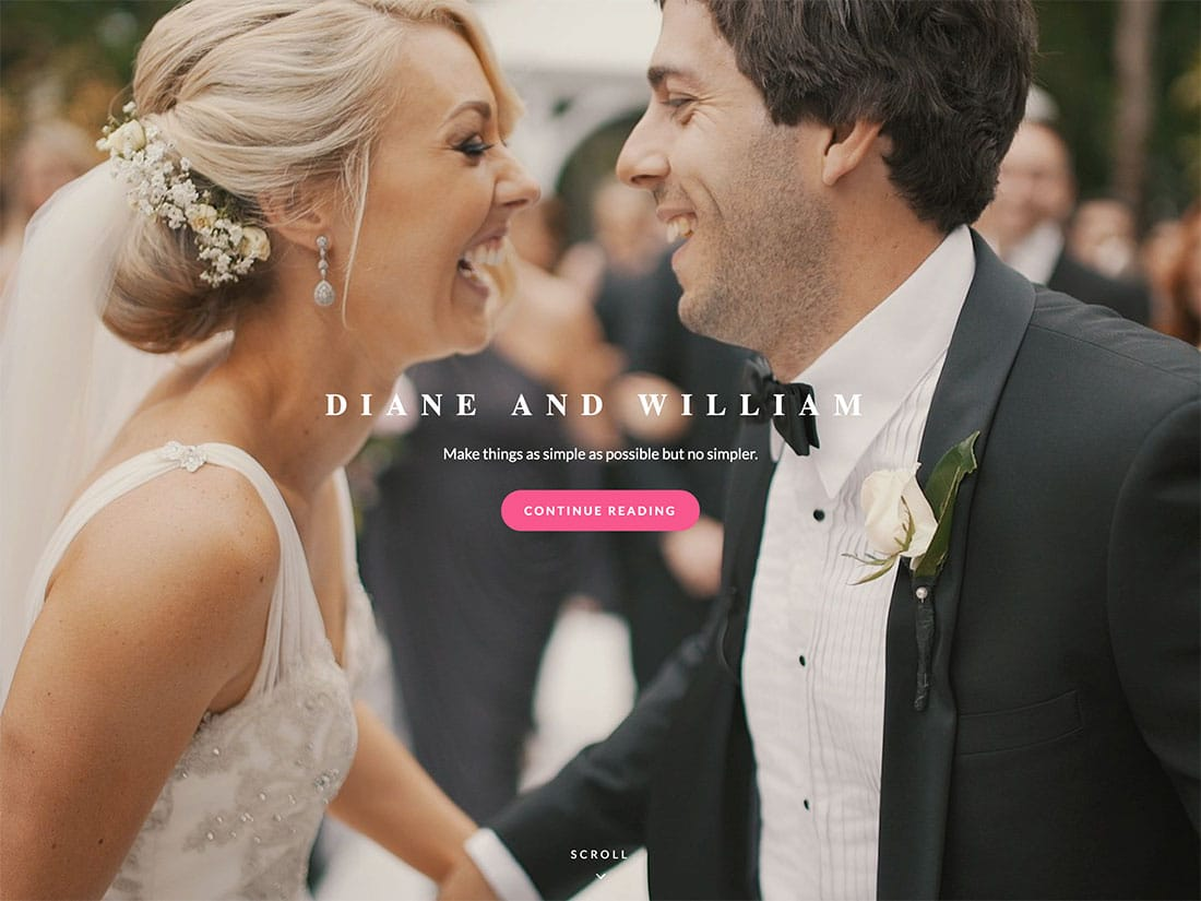 Catch-Wedding - 36+ Elegant Free WordPress Wedding Themes [year]