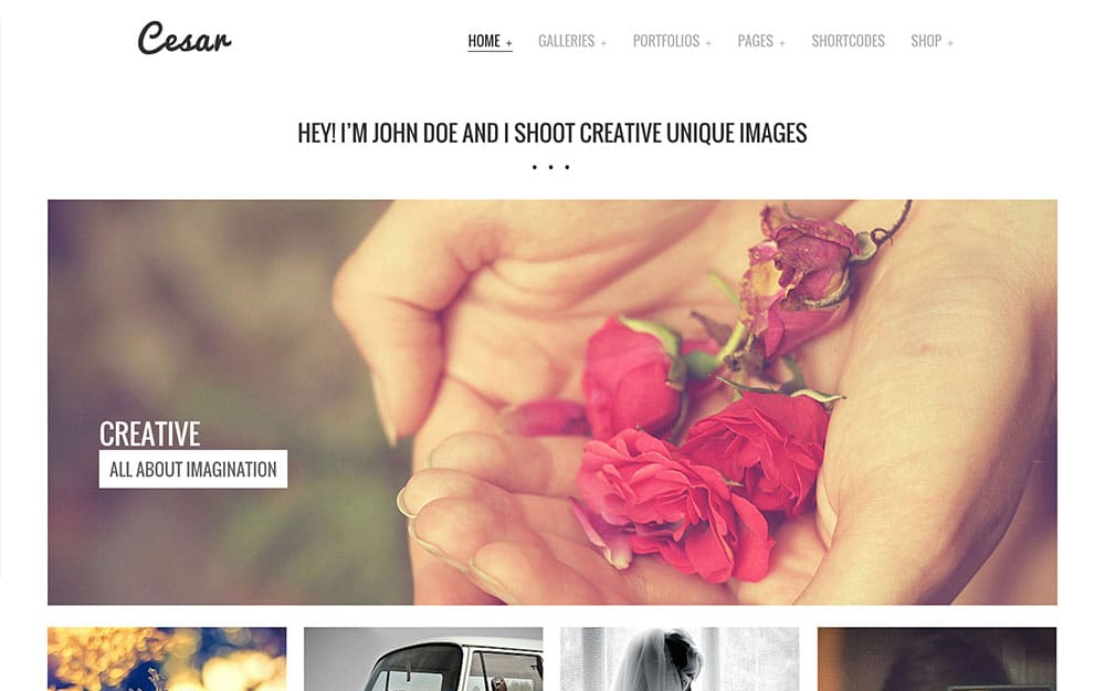 Cesar - 36+ Top Quality WordPress Themes For Photography [year]