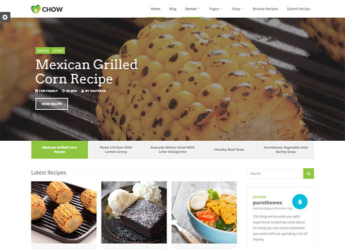 Chow - 31+ Nice Food & Drink E-commerce WordPress Themes [year]