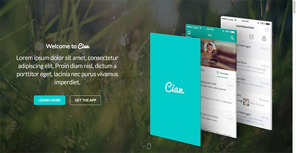Cian - 40+ Amazing WordPress App Showcase Themes [year]