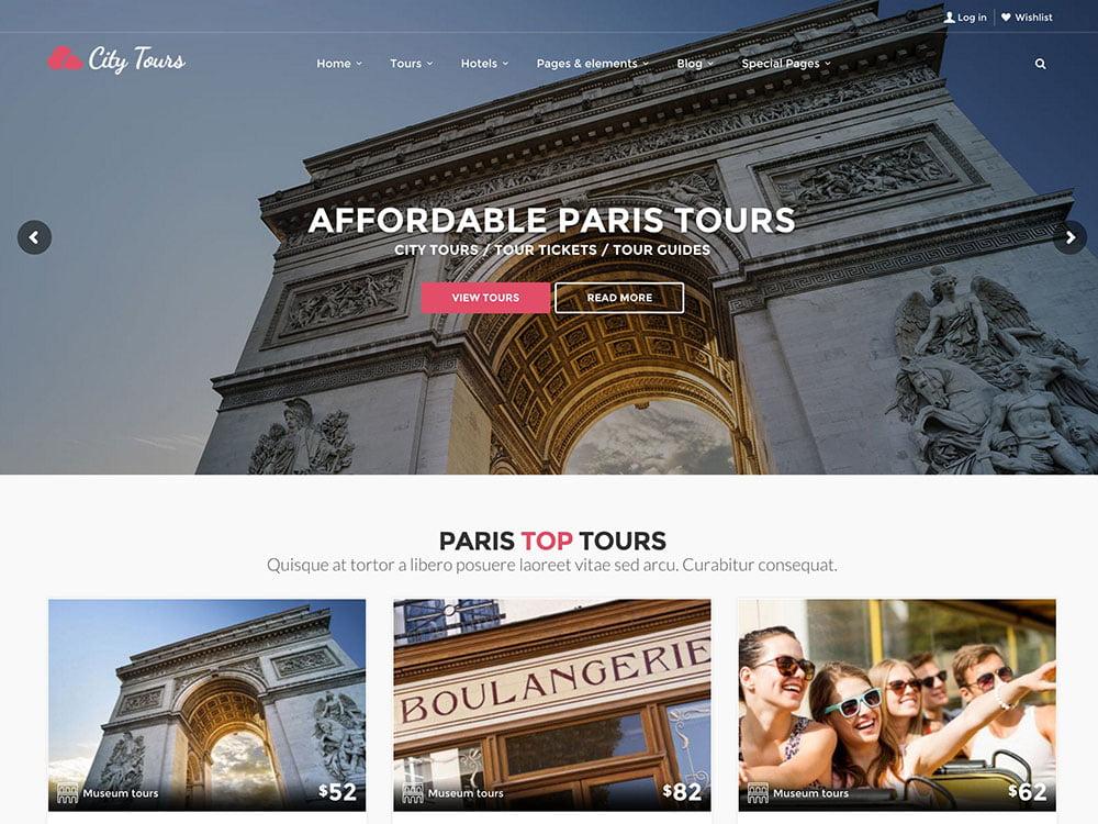 CityTours - 36+ Amazing Travel, Agencies, Hotels WordPress Themes [year]