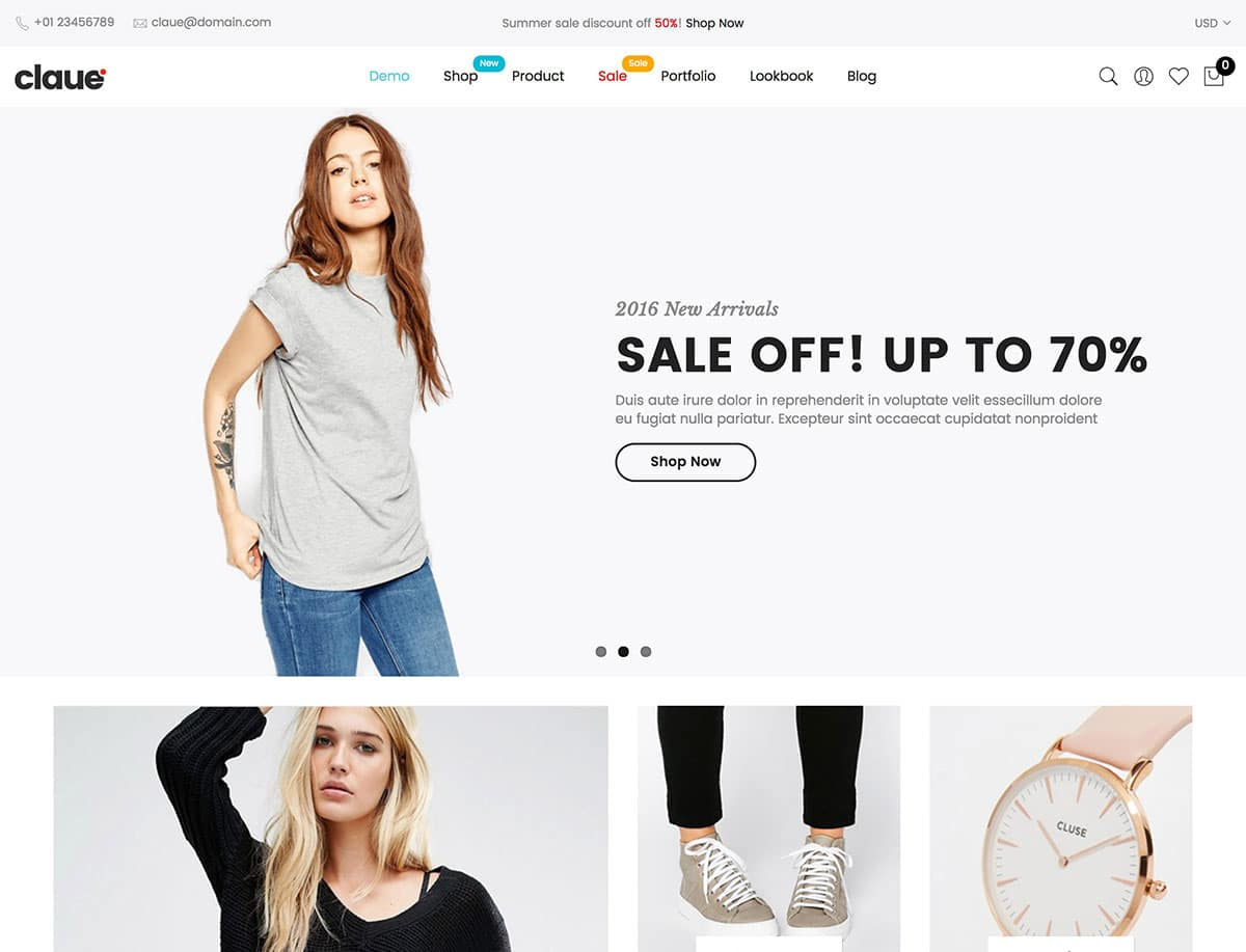 Claue - 41+ Top WordPress Themes For Woocommerce [year]