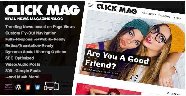 Click-Mag - 30+ Top Quality WordPress Themes For Viral [year]
