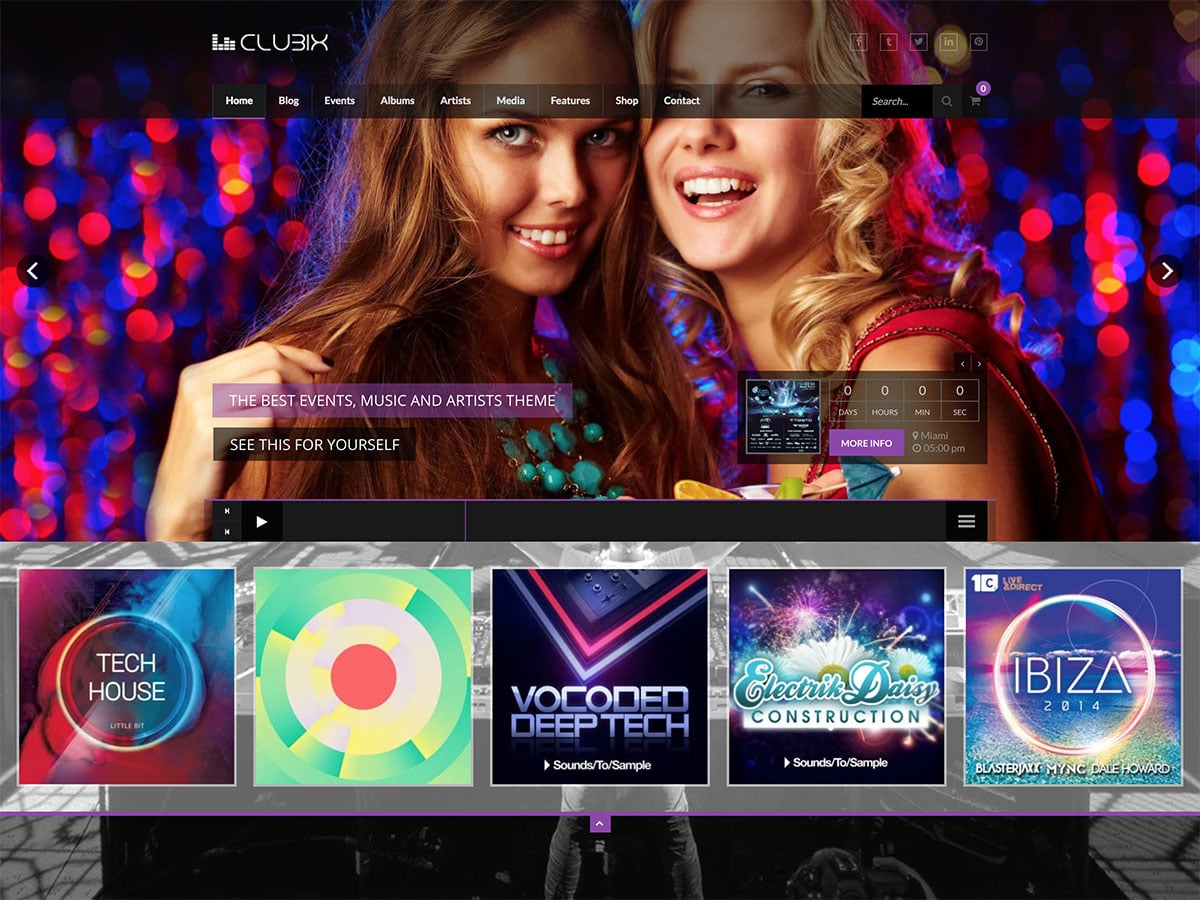 Clubix - 35+ Nice WordPress Themes For Nightclub [year]