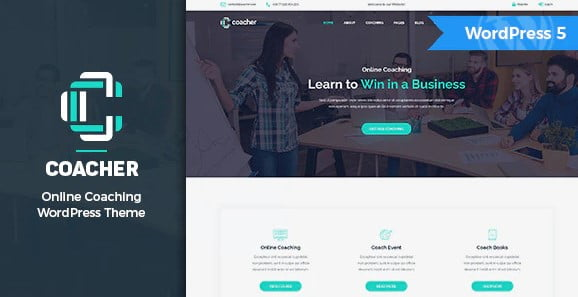 Coacher - 36+ Nice WordPress Themes For Coaching [year]