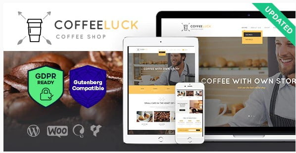 Coffee-Luck - 36+ Top Quality WordPress Themes For Coffee Shop [year]