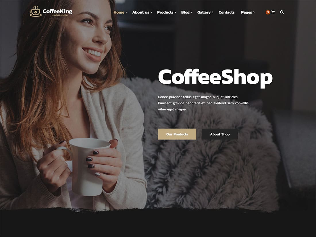 CoffeeKing - 36+ Top Quality WordPress Themes For Coffee Shop [year]