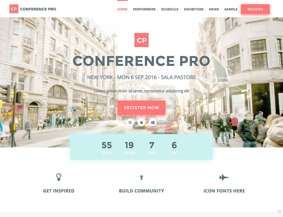 Conference-Pro - 40+ Amazing WordPress Themes For Events [year]