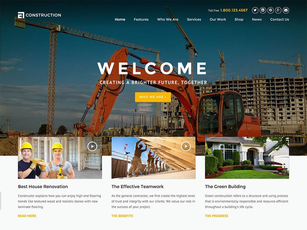 Construction-1 - 36+ Top Quality WordPress Themes For Construction Company [year]