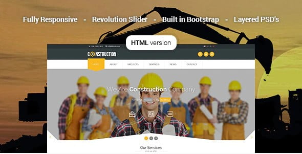 Construction - 36+ Amazing Electricians WordPress Themes [year]
