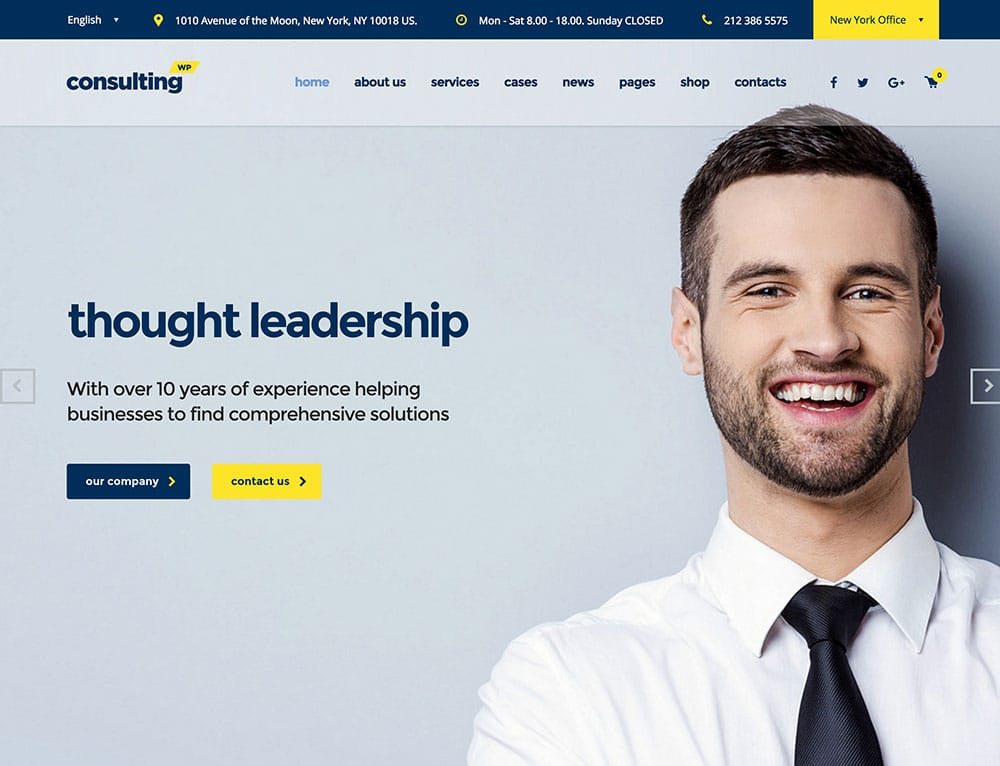 Consulting - 60+ Nice WordPress Themes For Business [year]