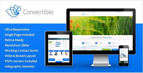 Convertible - 36+ Amazing Electricians WordPress Themes [year]