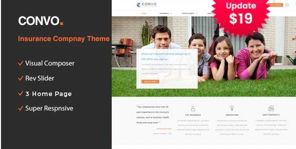 Convo - 36+ Amazing WordPress Insurance Themes [year]