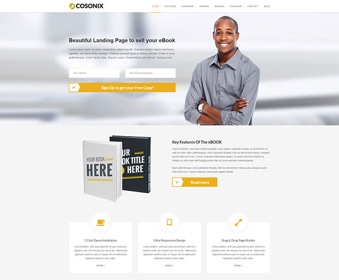 Cosonix - 31+ Nice Librarian & Bookseller WordPress Themes [year]