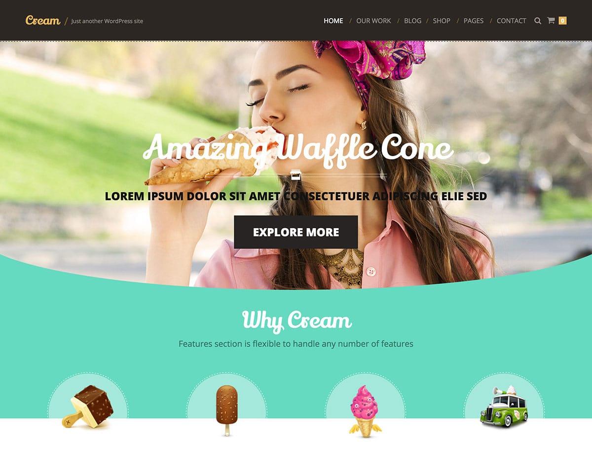 Cream-1 - 30+ Amazing Bakeries WordPress Themes [year]