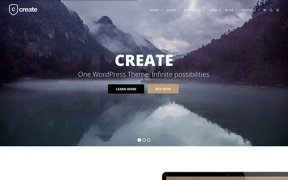 Create - 41+ Amazing WordPress Parallax Themes For You [year]