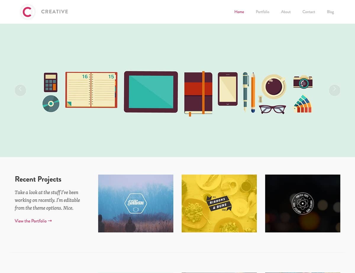 Creative - 40+ Top Quality WordPress Themes For Portfolio [year]