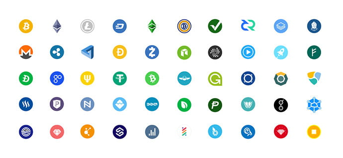 Crypto-icons-free-sketch - 35+ Awesome Free E-Commerce Icon Sets [year]