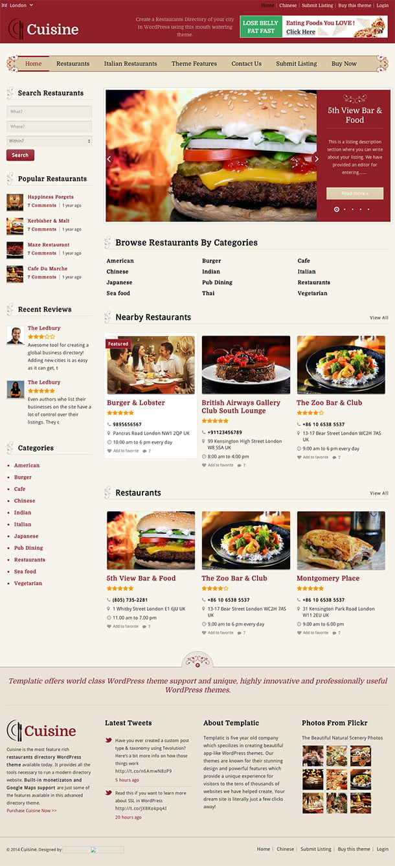 Cuisine-1 - 46+ Stunning WordPress Directory Themes [year]