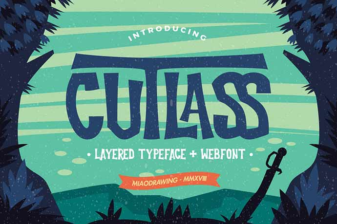 Cutlass-Typeface - 31+ Amazing Game Title Fonts For Developer [year]