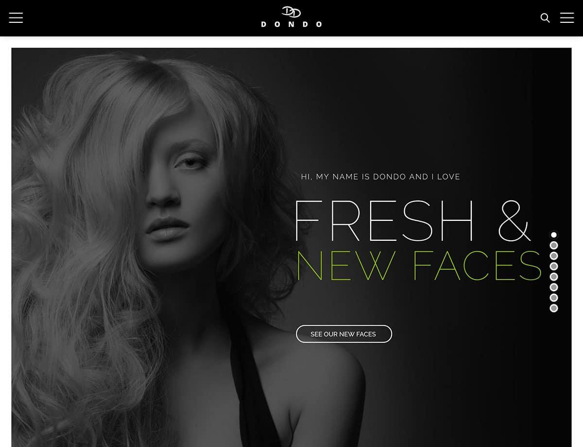 DONDO - 36+ Nice WordPress Model Agency Themes [year]