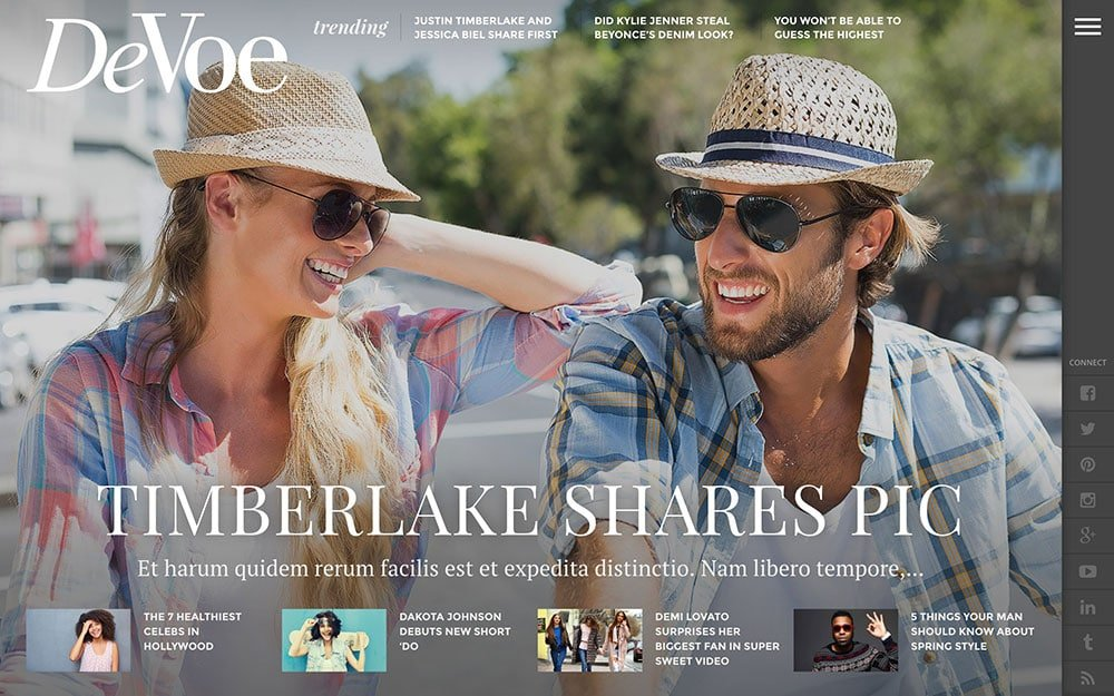 DeVoe - 36+ Nice WordPress Themes For Fashion Blog [year]