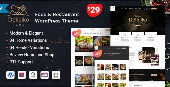 Deliciko - 36+ Top Quality WordPress Themes For Coffee Shop [year]