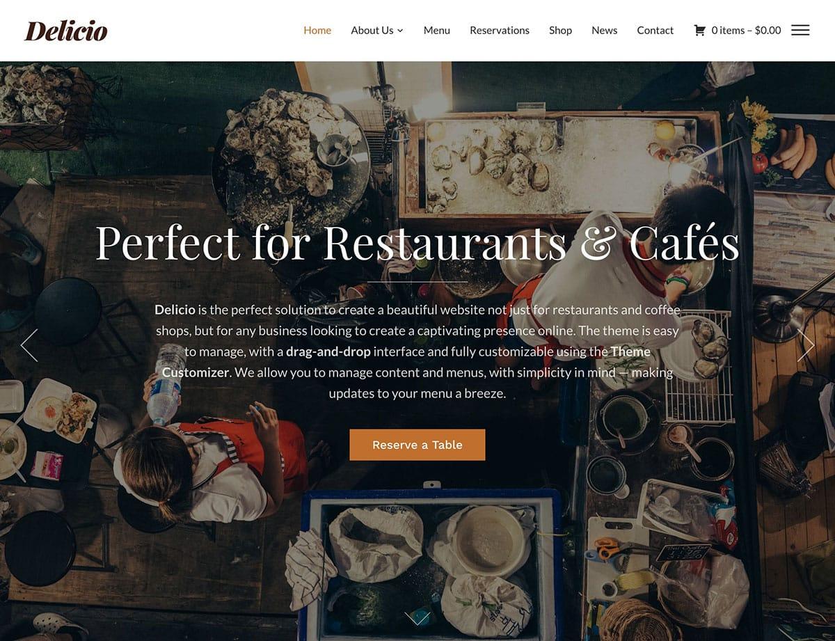 Delicio - 50+ Nice WordPress Themes For Restaurant [year]