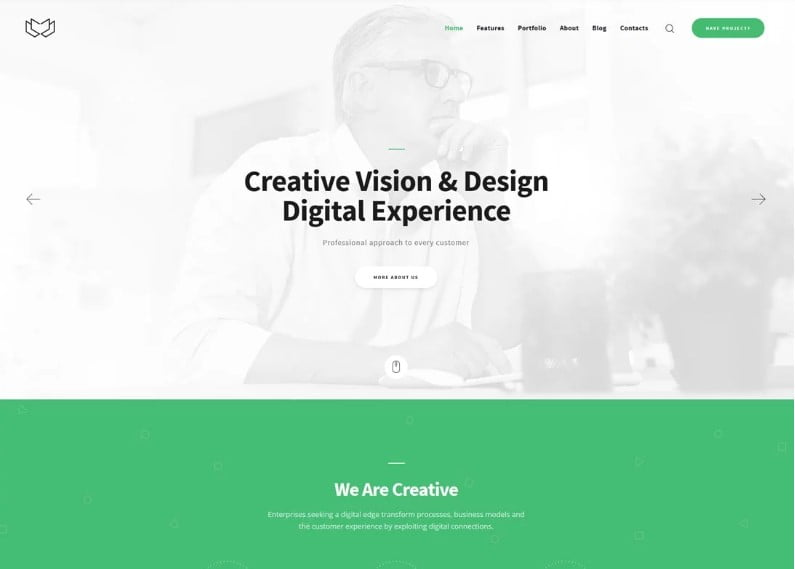 Deviox - 36+ Awesome Minimalist WordPress Themes [year]