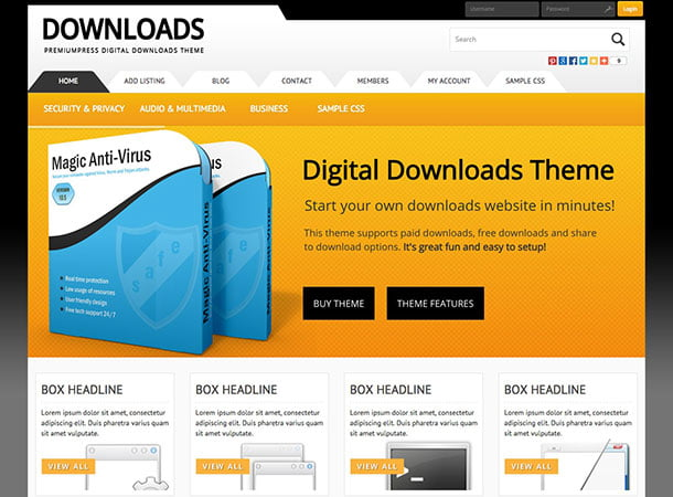 Digital-Downloads - 36+ Awesome WordPress Digital Products Selling Themes [year]