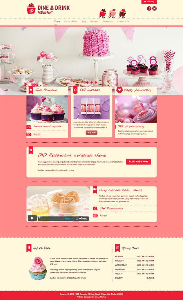 Dine-Drink-1 - 30+ Amazing Bakeries WordPress Themes [year]
