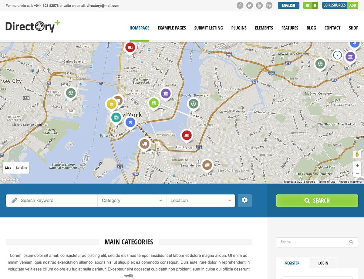 Directory-1 - 46+ Stunning WordPress Directory Themes [year]